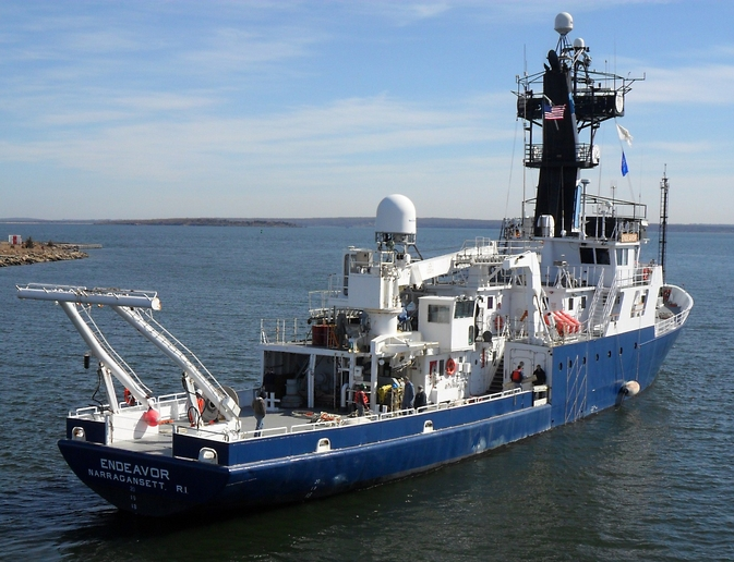 The Research Vessel Endeavor is the floating laboratory that scientists will use for the ocean-going portion of the SABOR field campaign this summer.