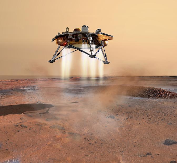 artist's rendition of the 2007 Phoenix Mars probe