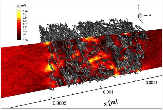 Advanced thermal protection materials modeling using the Direct Simulation Monte Carlo (DSMC) method simulates the flow through porous TPS materials. Research into these sorts of advanced technologies enable the journey to Mars and enable future exploration.