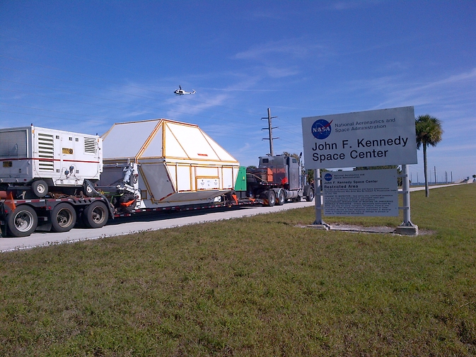 NASA's Orion spacecraft returned to the agency's Kennedy Space Center