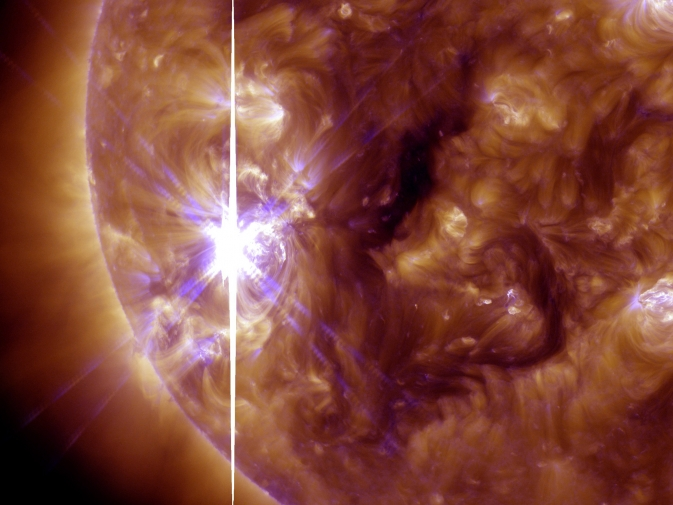 SDO captured this image of an X3.3-class solar flare that peaked at 5:12 p.m. EST on Nov. 5, 2013.