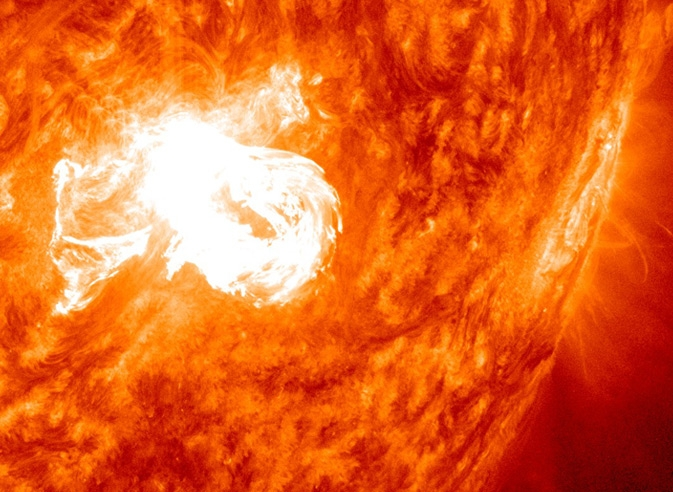 An M6.4 class solar flare erupted on Dec. 31, 2013.