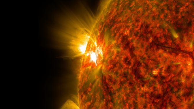 SDO captured this image of the second mid-level flare, an M7.9-class, on Nov. 5, 2014.