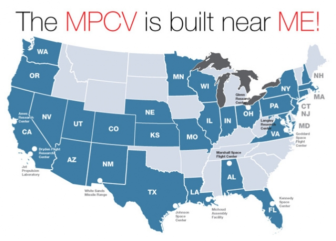 The MPCV is built near me!