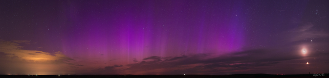 the aurora and the planetary conjunction was witnessed in Colorado
