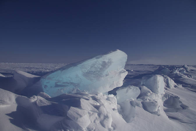 Sea ice ridge at one of the CryoSat-2 validation sites.