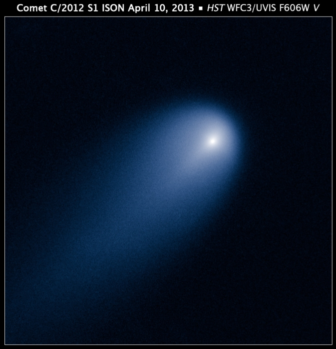 Hubble's view of Comet ISON (C/2012 S1) on April 10, 2013