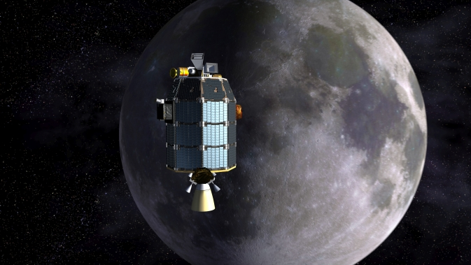 LADEE Approaches Lunar Orbit Artist's Concept