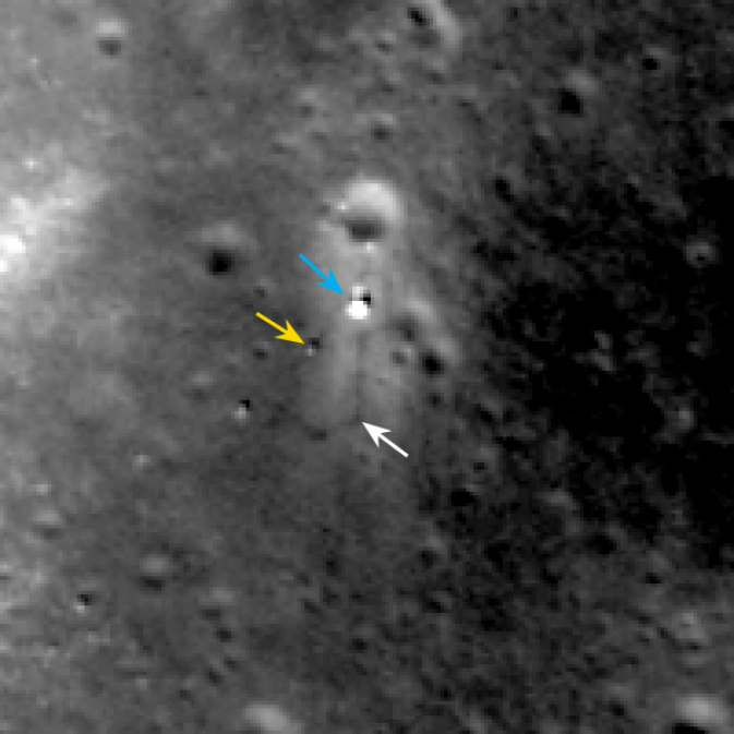 LRO view of Chang'e landing site