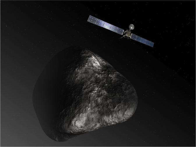 Artist's impression of the Rosetta orbiter