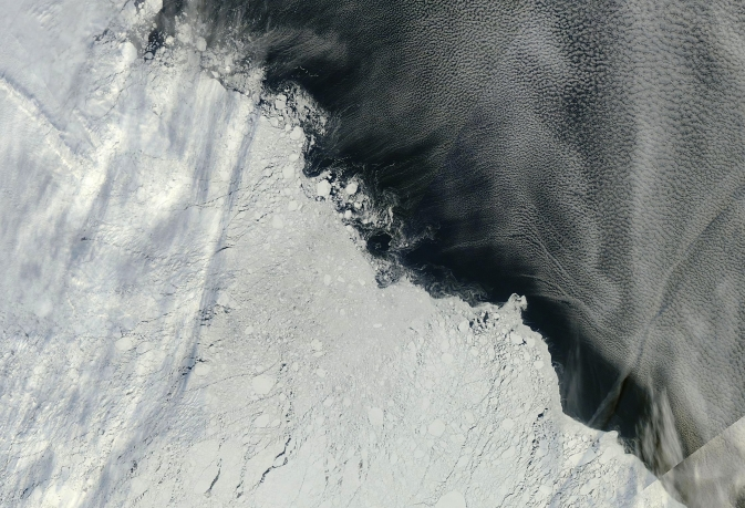 area of the Arctic sea ice pack roughly northeast of the New Siberian Islands