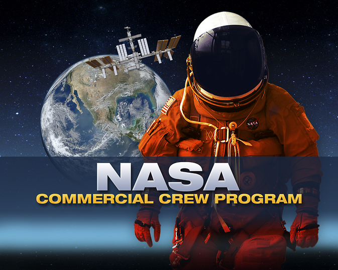 This graphic depicts the goal of NASA's Commercial Crew Program (CCP).