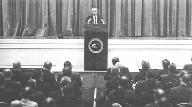 On his first day as director (Wednesday, 1 May 1968), Edgar M. Cortright met with Langley's senior staff.