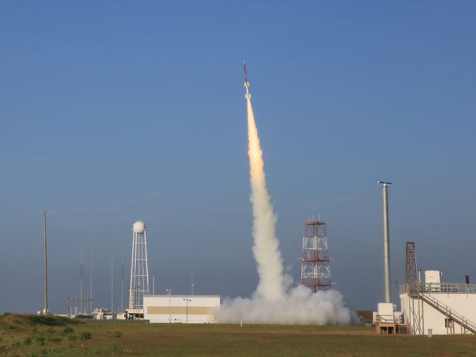 The RockOn sounding rocket launches successfully.