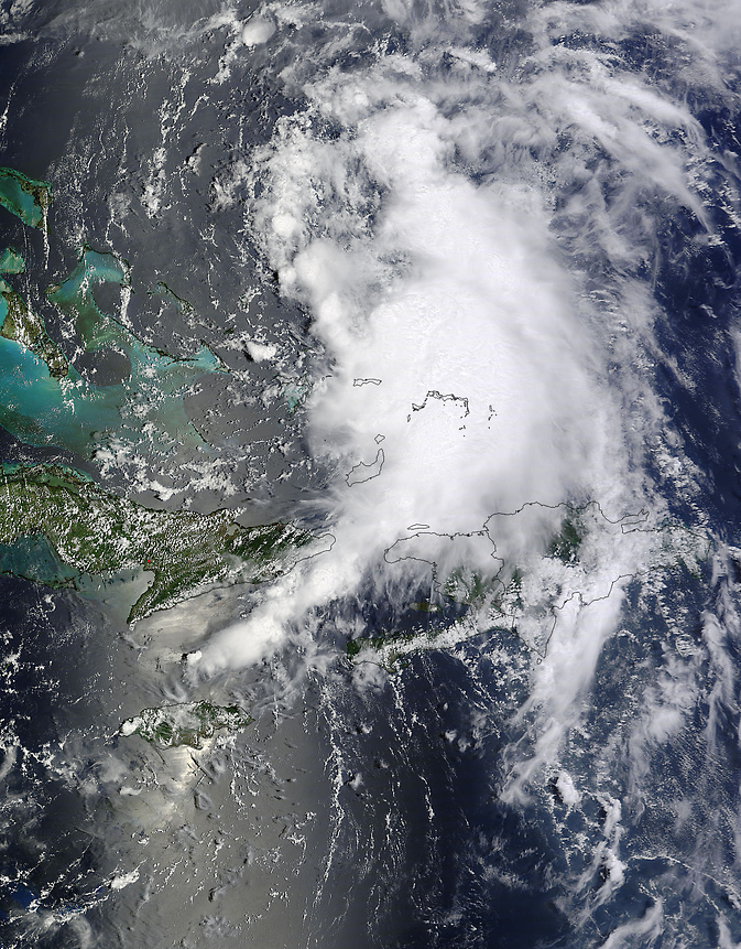 MODIS image of Cristobal