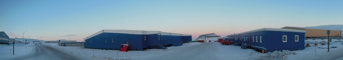 Panoramic view of Thule Air Base, Greenland, on Mar. 10, 2014