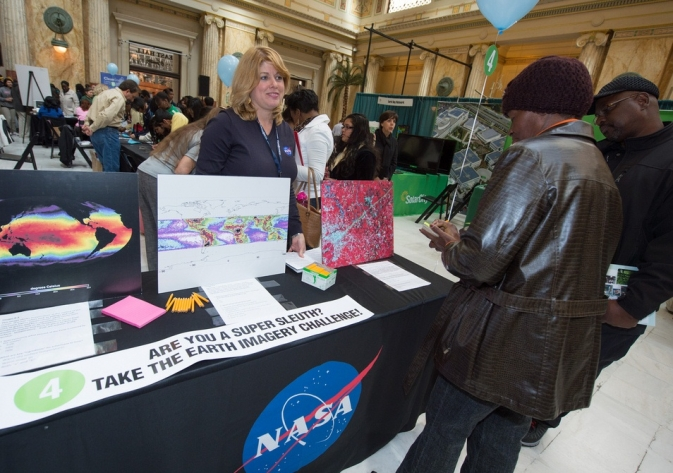 NASA will feature Earth Day exhibits, displays and hands-on science demonstrations April 21 and 22 at Union Station.