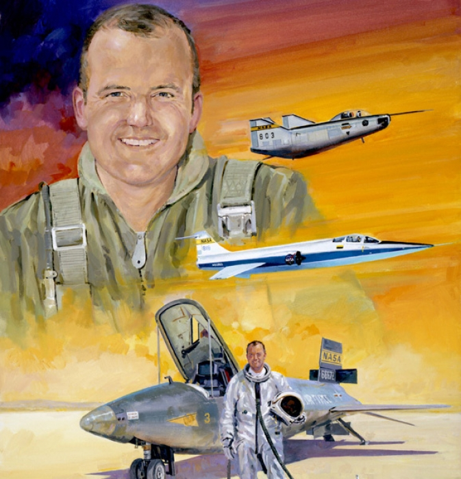 """William H. Dana, Flight Research Pilot""  Acrylic by Robert L. Schaar"