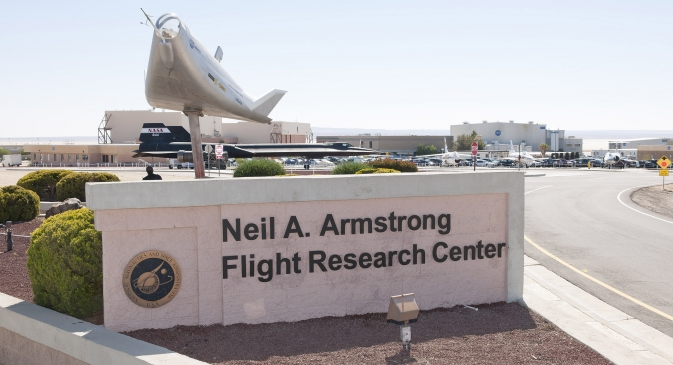 Signs are being updated around NASA's Armstrong Flight Research Center to reflect the center's new name.