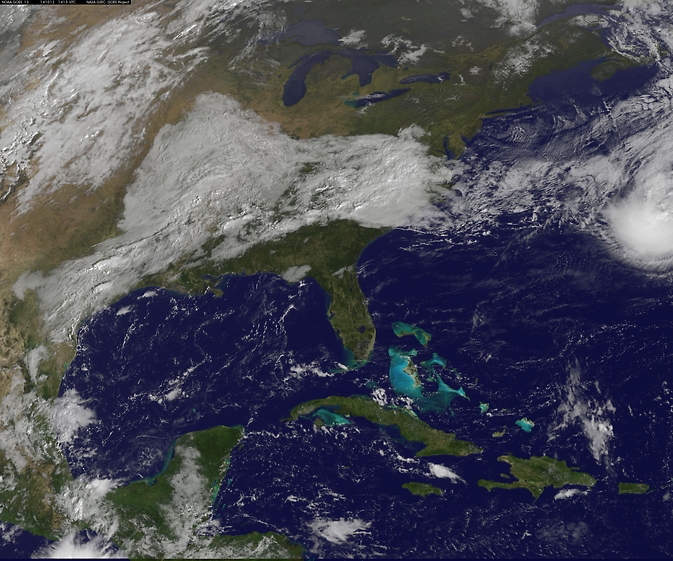 GOES image of Fay