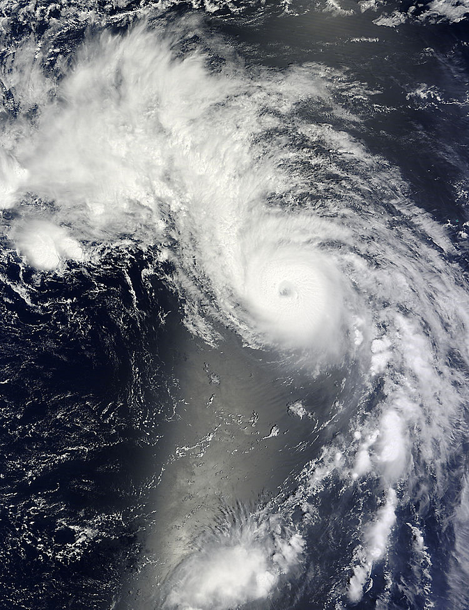 Typhoon Genevieve image from Terra