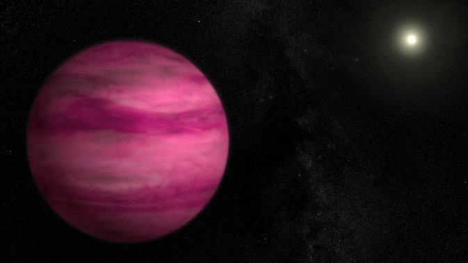 Magenta Planet Larger Than Jupiter Detected Using Direct ...