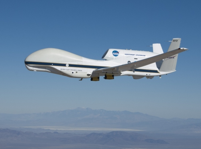 NASA's Global Hawk on a checkout flight