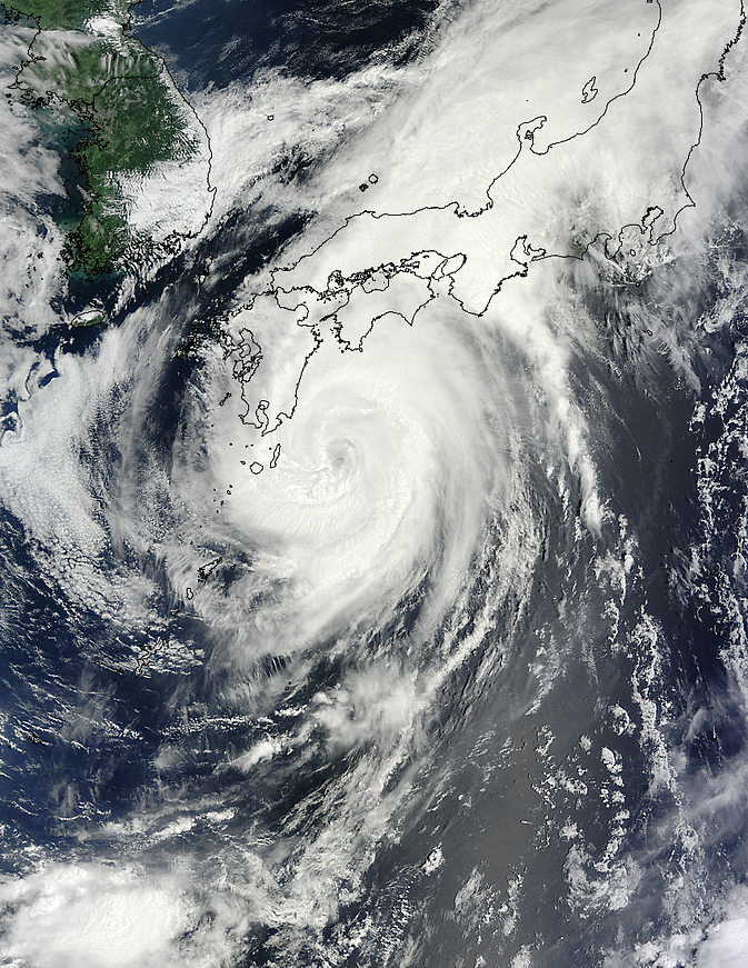 MODIS image of Halong over Japan