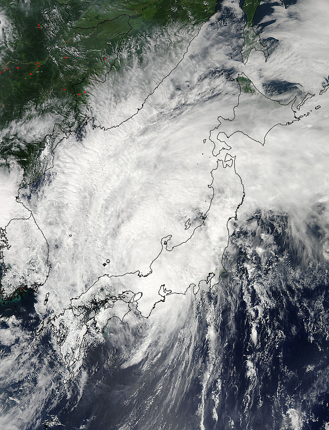 Halong directly over Japan