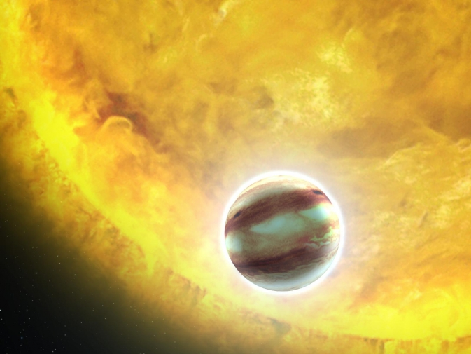 Artist's concept of a hot-Jupiter exoplanet