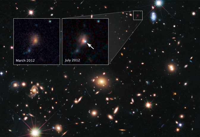Remote Supernova Magnified by Massive Galaxy Cluster MACSJ1720