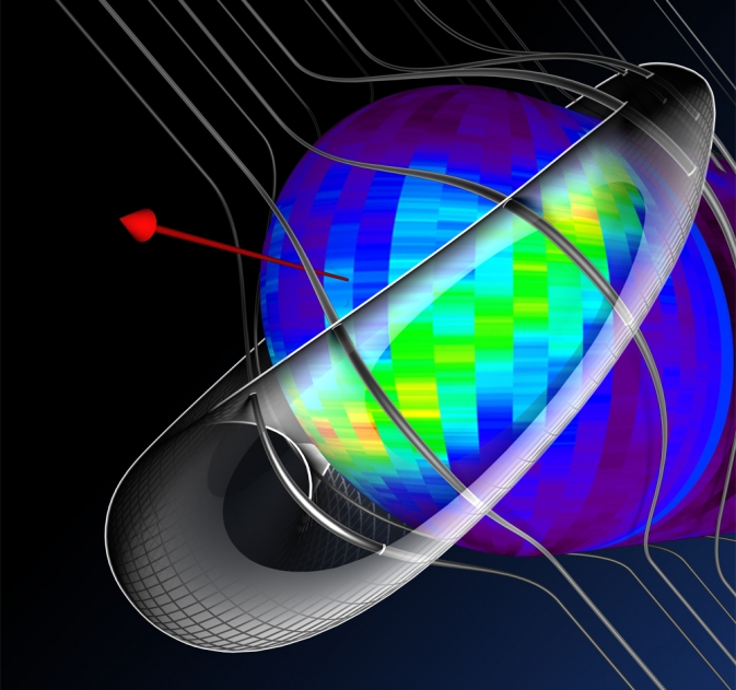 A model of the interstellar magnetic fields warping around the outside of our heliosphere