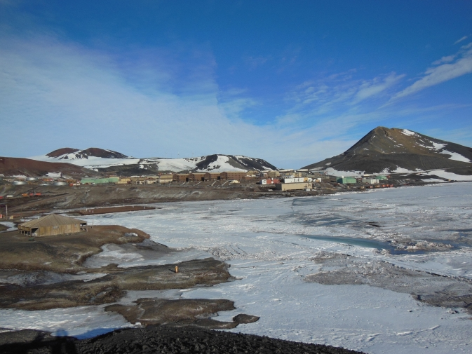 View of McMurdo Station from Hut Point.