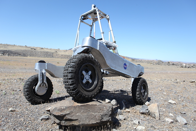 The K-Rex rover during an engieering field test