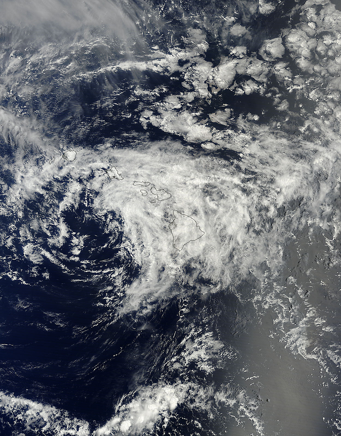 Terra image of Iselle over the Hawaiian Islands