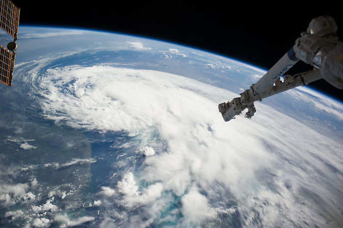 ISS view of Tropical Storm Arthur