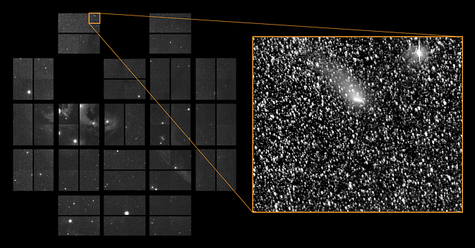 Comet Siding Spring passes through K2's Field-of-View