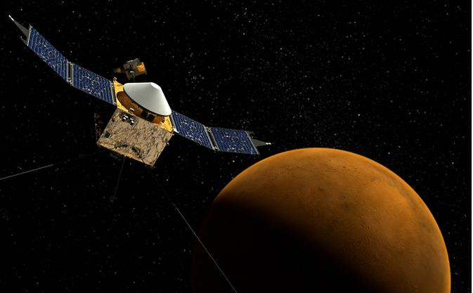 NASA's MAVEN spacecraft orbiting Mars