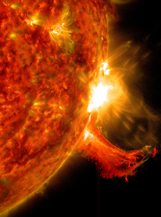 SDO captured this image of an M7.3 class solar flare on Oct. 2, 2014.
