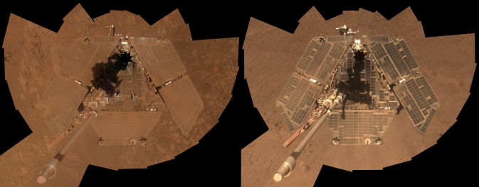 Self-portraits of NASA's Mars Exploration Rover Opportunity