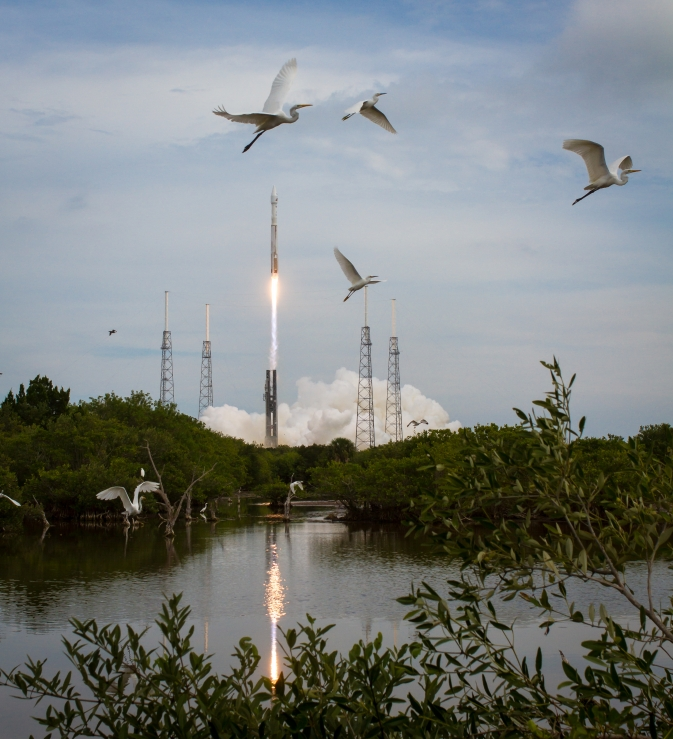 The United Launch Alliance Atlas V rocket with NASA's Mars Atmosphere and Volatile EvolutioN (MAVEN) spacecraft launches from the Cape Canaveral Air Force Station Space Launch Complex 41, Monday, Nov. 18, 2013, Cape Canaveral, Fla.