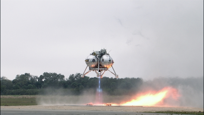 The Morpheus Lander Takes Off