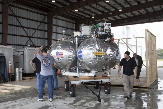 NASA's Project Morpheus Lander Arrives at Kennedy for Testing