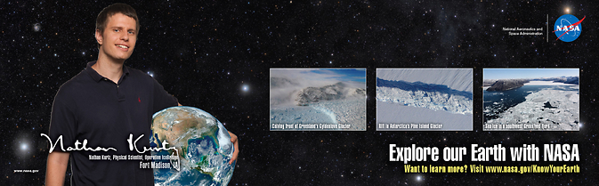 Banner for Know Your Earth with IceBridge.