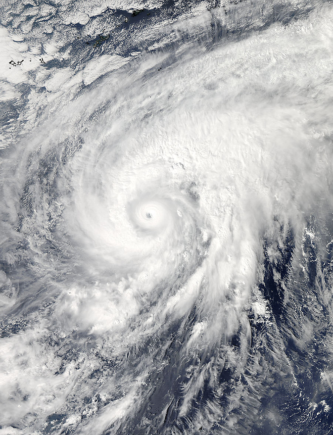On Nov. 3 at 04:20 UTC (12:20 a.m. EDT) NASA's Aqua satellite captured this image of Super Typhoon Nuri after it developed an eye.
