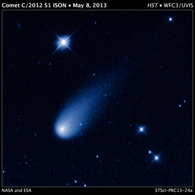 Hubble image of comet ISON