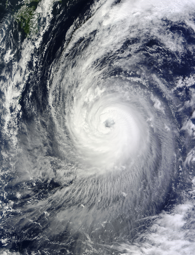 Typhoon Phanfone, as seen by Terra satellite