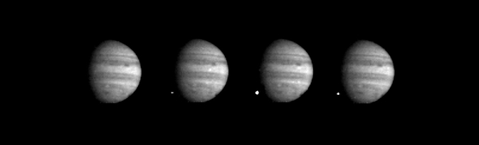 Four views of Jupiter