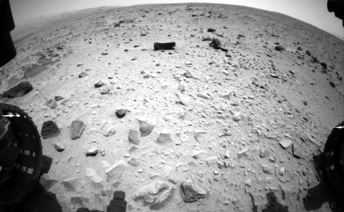 NASA's Curiosity Mars rover captured this image with its left front Hazard-Avoidance Camera