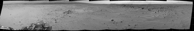 Mosaic of images from the Navigation Camera (Navcam) on NASA's Mars rover Curiosity